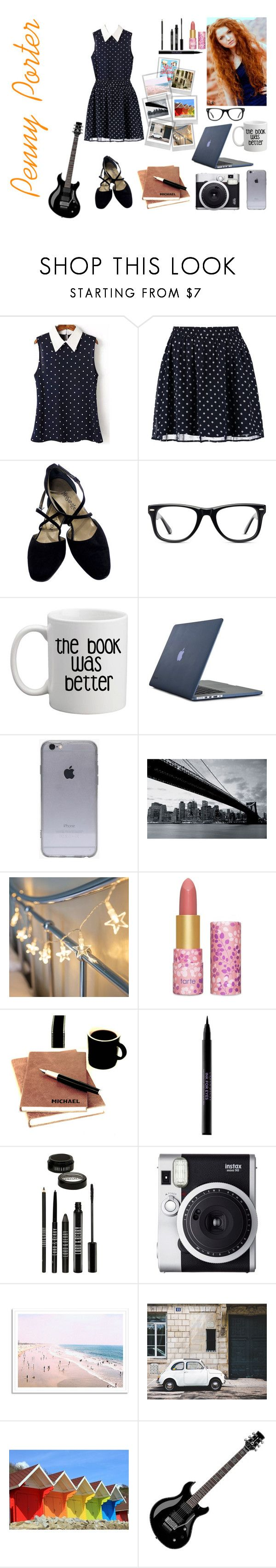 """""""Penny Porter / Girl Online by Zoe Sugg"""" by emily-esteves ❤ liked on Polyvore featuring Polaroid, Vero Moda, Yves Saint Laurent, Muse, Speck, 1Wall, tarte, Urban Decay, Lord & Berry and Fuji"""