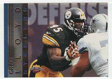 Greg Lloyd # DF 7- 1997 Score Board Playbook By The Numbers Football