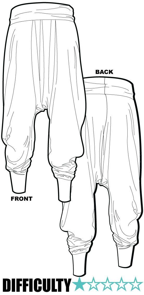Ralf Pink Patterns /Harem pants / Khaki Merino jersey. Been wanting to make this!!