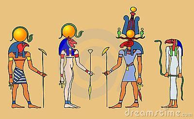 Ägyptische Götter und Göttin