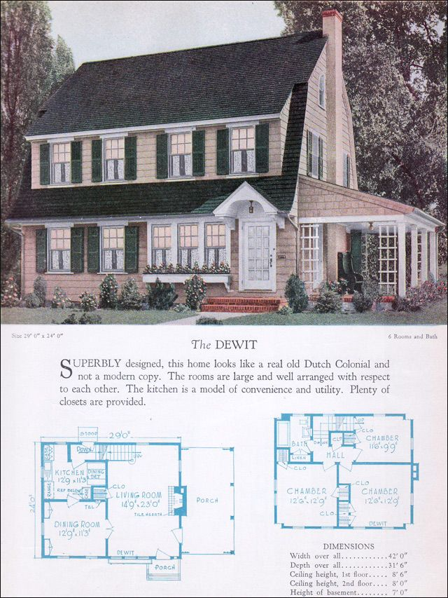 Dutch colonial home and vintage on pinterest for Dutch colonial house plans
