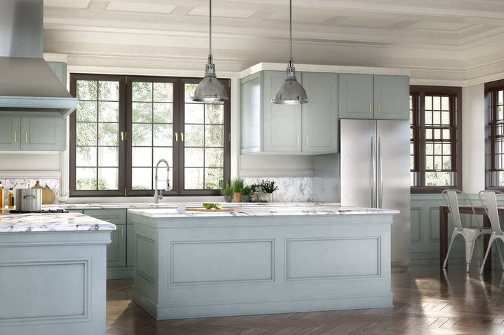 Evoke heritage beauty with the help of #wainscot #moulding from our Metrie #TrueCraft Collection. #kitchen #interiordesign