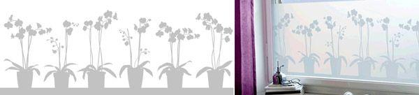 Film occultant électrostatique design - orchidée