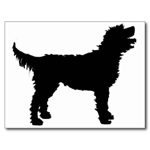 De Hond van Labradoodle (in zwarte) Wens Kaarten