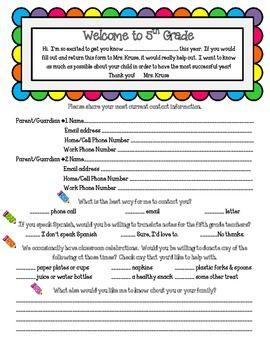 Back To School Parent Surveys For Grades 3 6. This