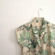 Leaf print blouse
