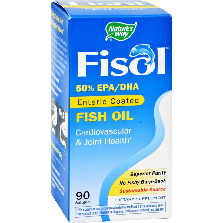 Natures Way Fisol Fish Oil - 90 Softgels - Natures Way Fisol Fish Oil Description:    50% EPA/DHA  Enteric-Coated  Cardiovascular and Joint Health  Superior Purity  No Fishy Burp-Back Mega Potency Omega-3s Fisol contains a pure highly concentrated cold water fish oil with 50% omega-3 essential fatty acids: 30% EPA (eicosapentaenoic acid) 20% DHA (docosahexaenoic acid)   Helps Reduce the Risk of Coronary Heart Disease Supportive but not conclusive research shows that consumption of EPA and…
