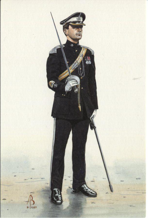 Alix Baker Postcard - AB14/6 Regimental Sergeant Major, 17th/21st Lancers, 1991
