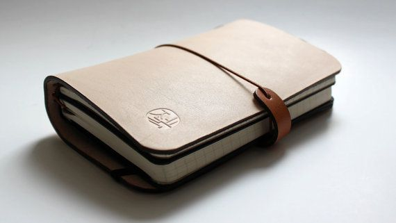 Leather cover for large Journal (Cahiers) 5X8.25 size and midori TRAVELER'S notebooks