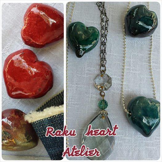 Raku hearts