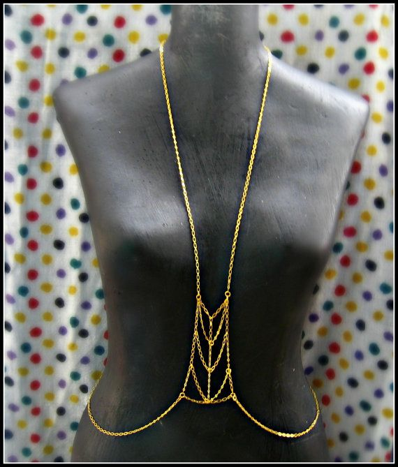 gold body chain