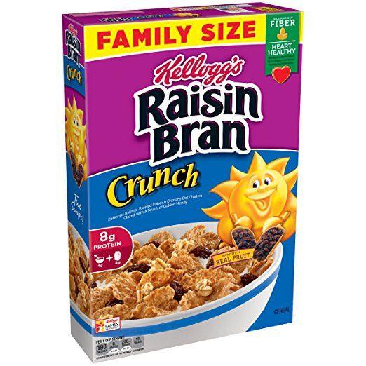 Kellogg's Raisin Bran Crunch Cereal, 24.8 Ounce