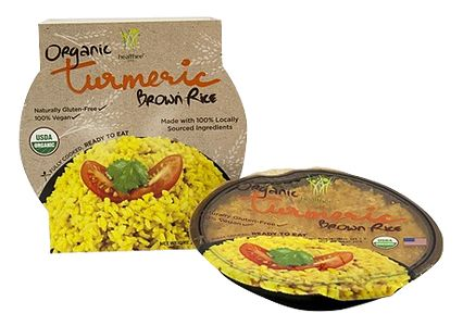 Organic Brown Rice    Healthee® Organic Turmeric Brown Rice is a unique blend of coconut-milk-cooked-rice with organic turmeric. The main ingredient of turmeric has healthy inflamation response and anti-oxidant properties. It can also help increase the production of vital enzymes in the liver, which helps eliminate toxins found in the body.