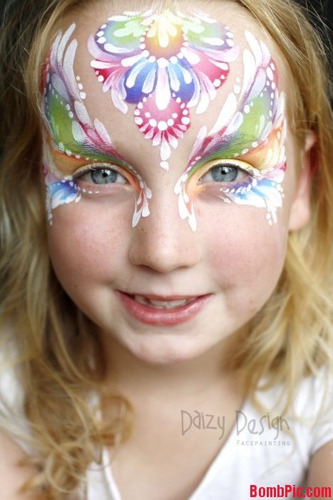 Rainbow Face Painting by Daizy Design