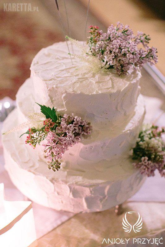 21. Lilac Wedding,Wedding cake / Wesele z bzem,Tort ślubny,Anioły Przyjęć