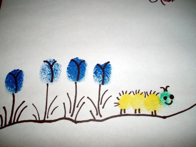 Spring Fingerprint Crafts for Kids