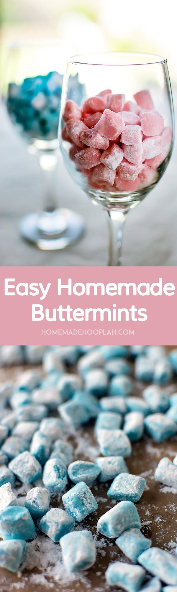 Easy Homemade Buttermints! Melt-in-your-mouth buttermints that are surprisingly easy to make at home. | HomemadeHooplah.com