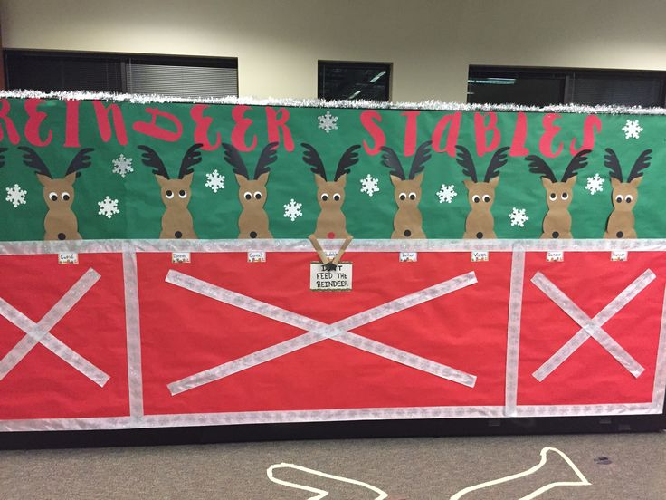 Reindeer Stable Office Cubicle Christmas Decor Crafty