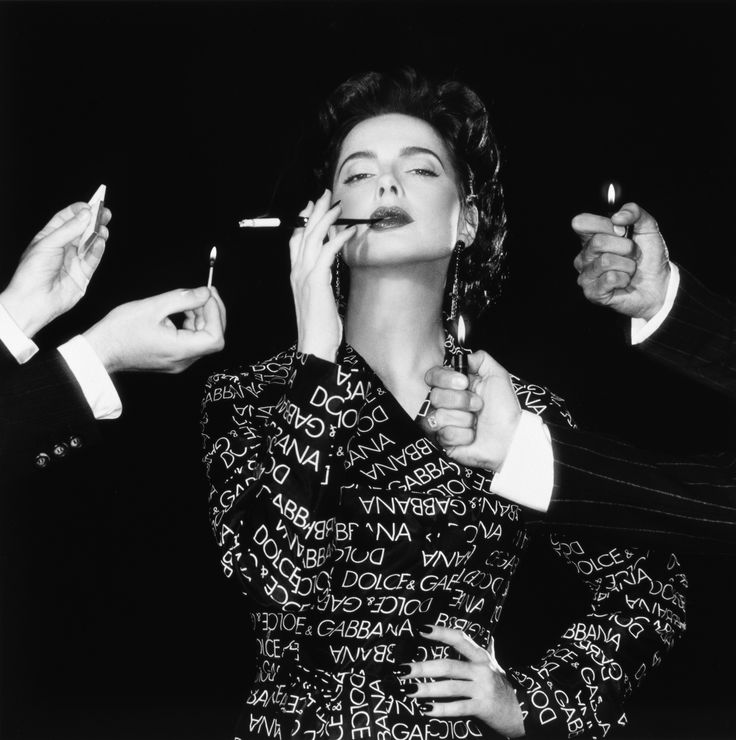 Isabella Rossellini in a photoshoot for Dolce & Gabbana, 1995, by Michel Comte