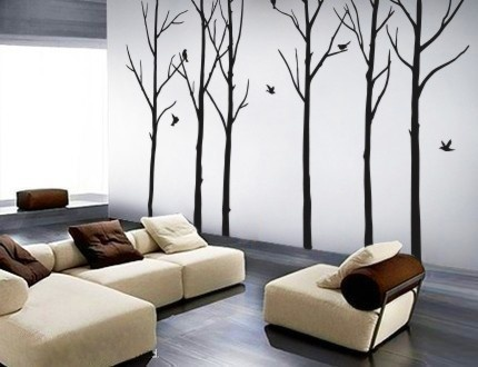 vinyl decal stickers - Winter Forest
