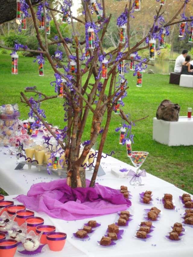 Mesas de postres copas vasos platos cubiertos displays for Copas de cristal