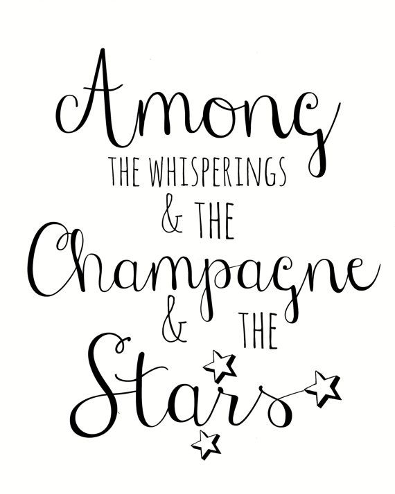 Great Gatsby Quote 8x10 art print, Typography Print, Wall Decor, Quote Print