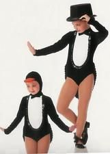 PENGUIN PARADE Tux Tails Showgirl Halloween Jazz Tap Dance Costume Child XS