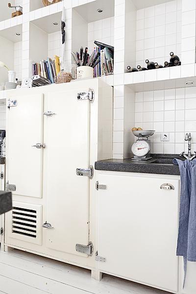White industrial refrigerator