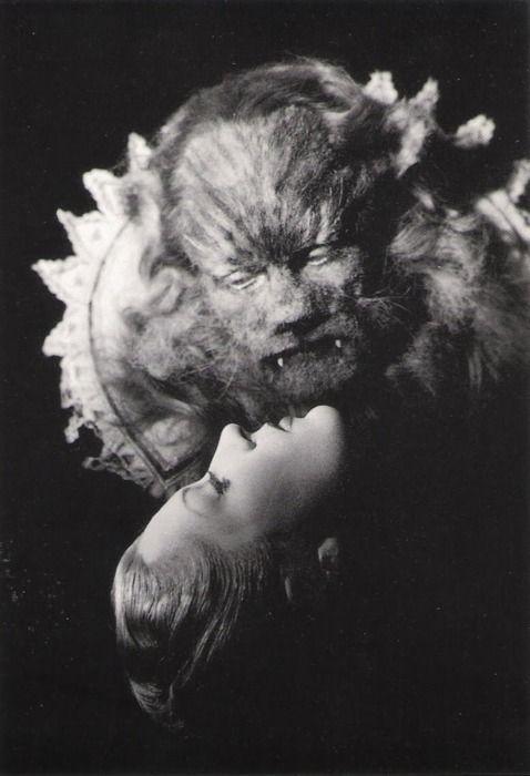 Josette Day as Belle and Jean Marais as La Bête in 'La Belle et la Bête' (Beauty and the Beast), 1946; directed by Jean Cocteau.