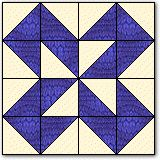 """ir up a dark and a light square right sides together and all edges aligned. On the back side of the top square lightly mark the diagonal. Next, carefully sew a scant 1/4"""" away from the marked diagonal on each side of it. After you have done this cut apart on the solid lines, between your stitching.. Each square pair will give you"""