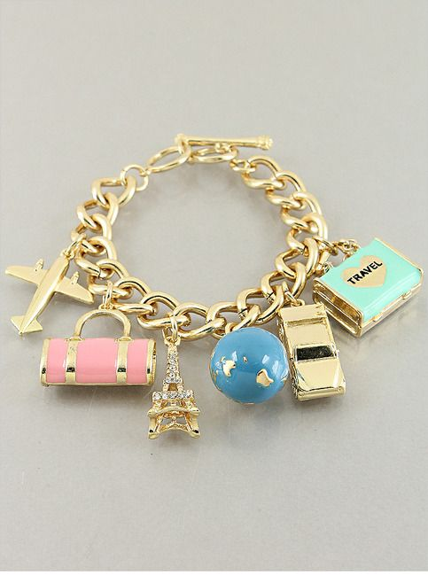 World Traveler Charm Bracelet from P.S. I Love You More Boutique