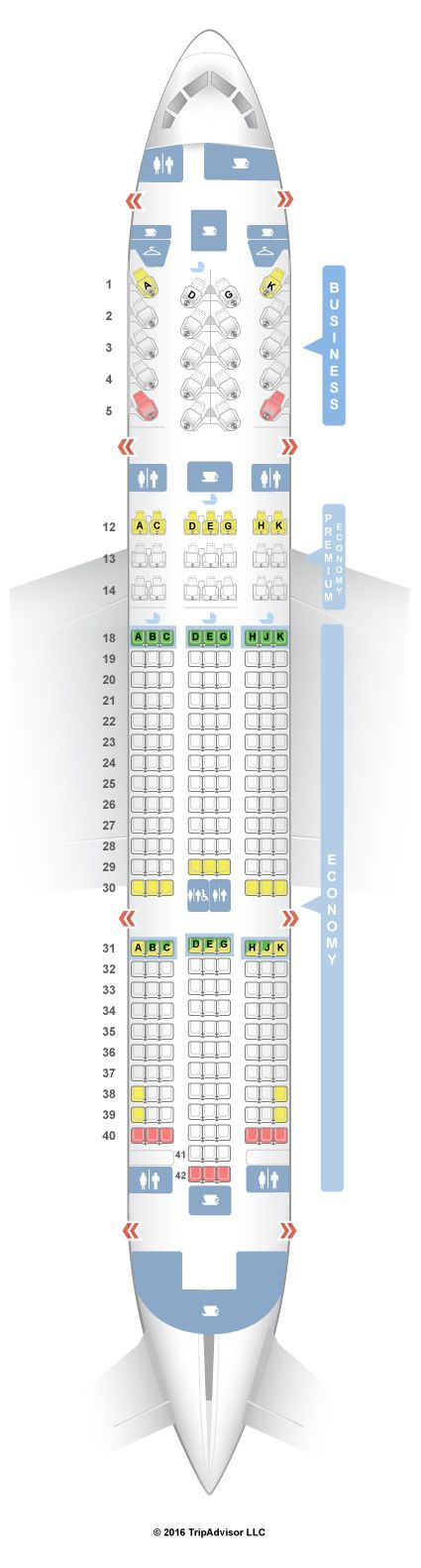 SeatGuru Seat Map Air Canada Boeing 787-8 (788)