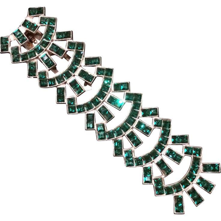 Super Long Emerald Green Dress Clip