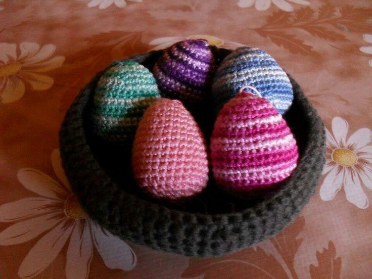 Horgolt húsvéti tojások