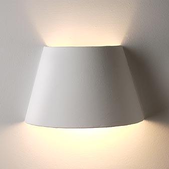 Wandlampe aus Gips