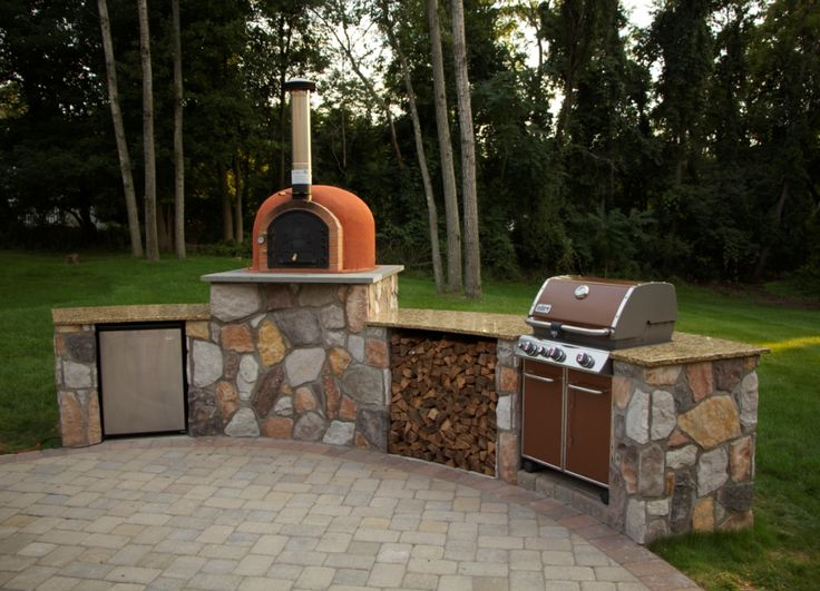 Outdoor Kitchen With Pizza Oven · Wood Fired ...