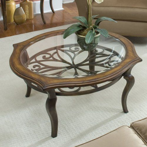 I Love This Pretty Large Round Coffee Table   Itu0027s Hard To Image What  Classic Decor