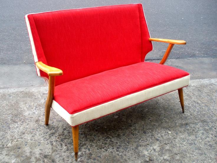 Sillón dos cuerpos americano #armchair #furniture #american #retro