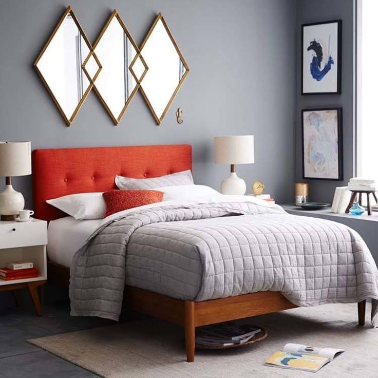 Modern Bedroom Red best 20+ mid century modern bedroom ideas on pinterest | mid
