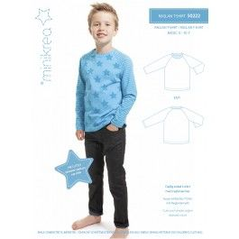 Raglan T-Shirt | Basic-Schnittmuster für ein Raglanshirt in der Gr. 50/56 - 140/146 | minicrea