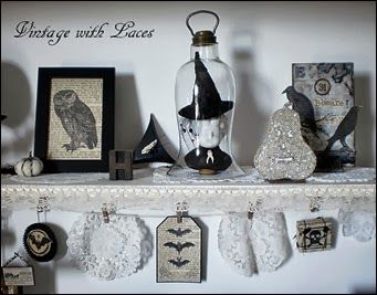 black and white halloween decoration