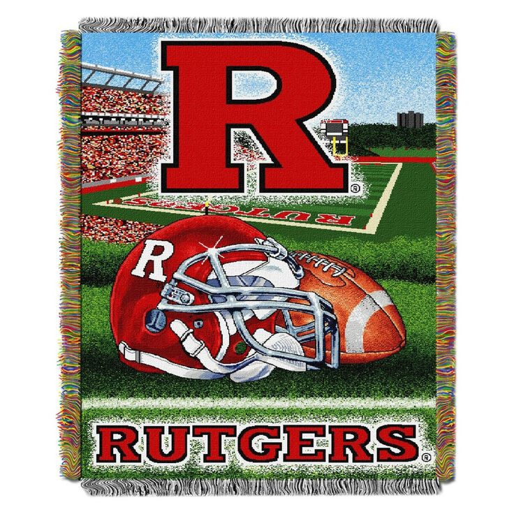 NCAA Northwest Tapestry Throw Blanket Rutgers Scarlet