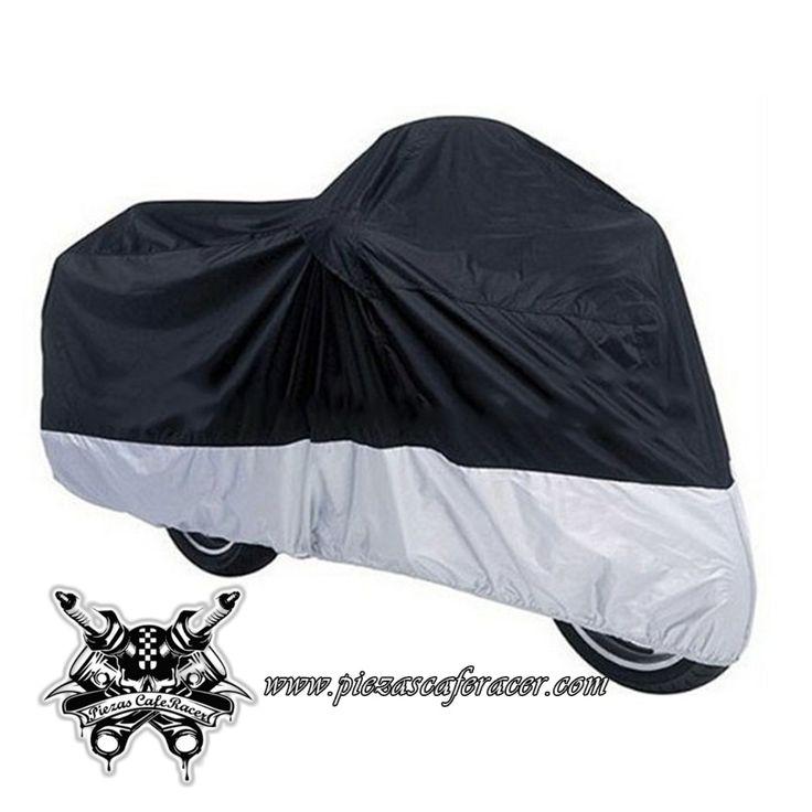 13,26€ - ENVÍO GRATIS - Funda Ventilada para Moto Protección UV Tamaño XL Color Plata/Negro