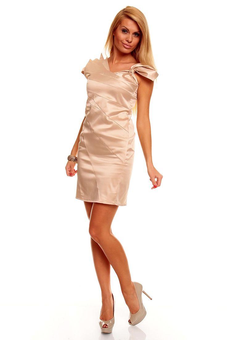 Neu im Kitten-Shop! Elegantes cremefarbenes Kleid mit ausgefallenen Details. Abendkleider-Cocktailkleider-Partykleider-online-party dresses- evening dresses- cocktail dresses- online