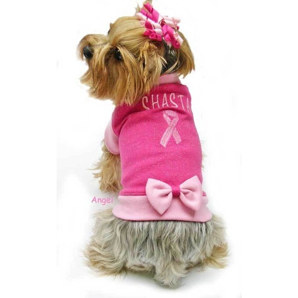 Breast cancer awareness fleece dog clothes liked on polyvore