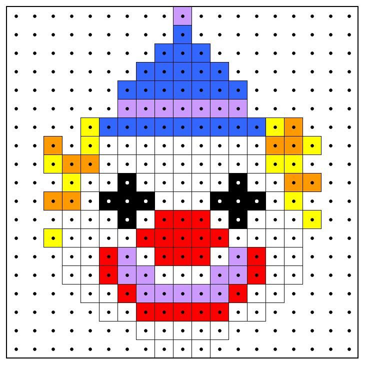 KleuterDigitaal - wb kralenplank clown 01