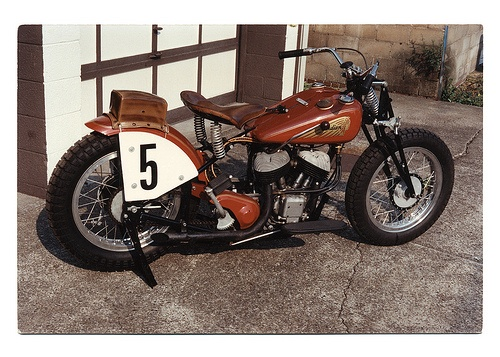 Cosmetically Restored 1936 Indian Sport Scout Racing Motorcycle At One Time Ridden By Andy Drobek And Later Stan Witinski