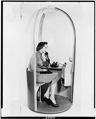 classic phone booth - this is practically a private office! #coworking