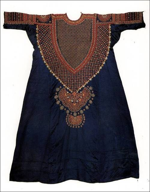 Gujarat, India, Woman's tunic, cotton/silk/mirrors, c. 1900