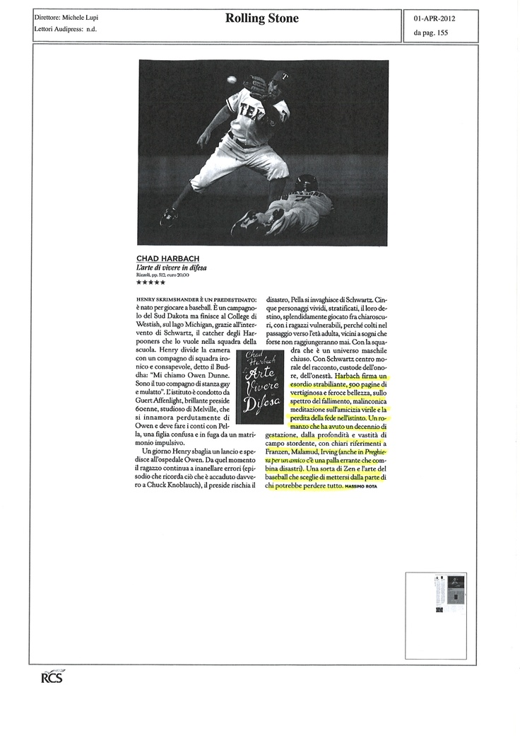 Recensione su Rolling Stone - Rolling Stone Italy review